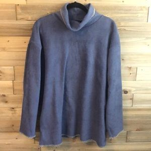 Woolrich Cowl Neck Gray Fleece Pullover Size XL